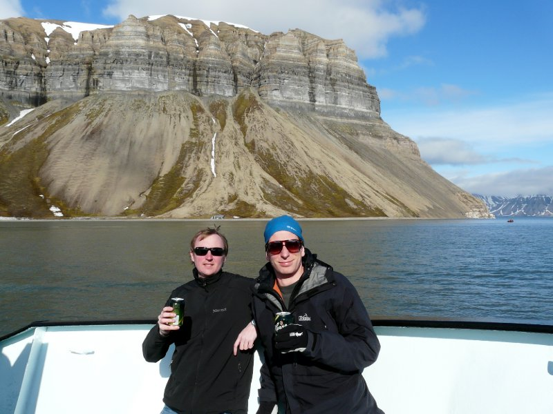 Me and Mackan aboard Langöysund
