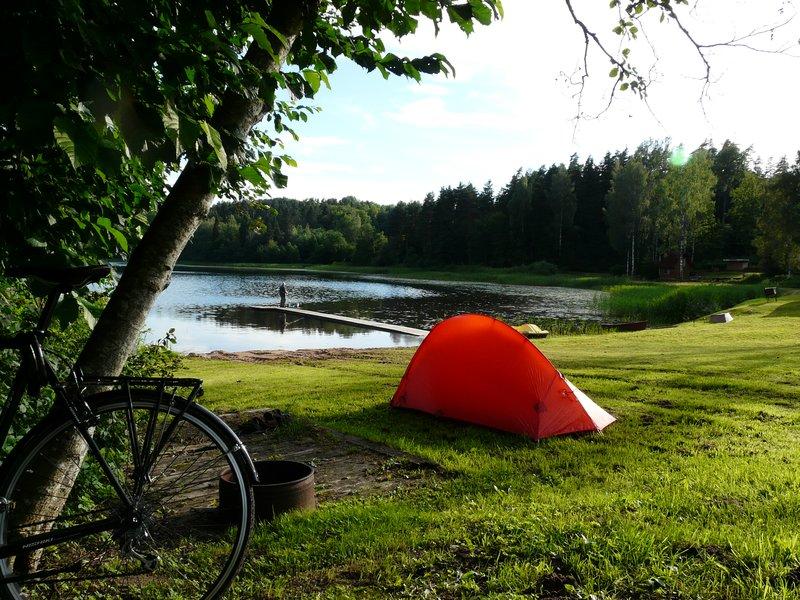 Camping outside Madona