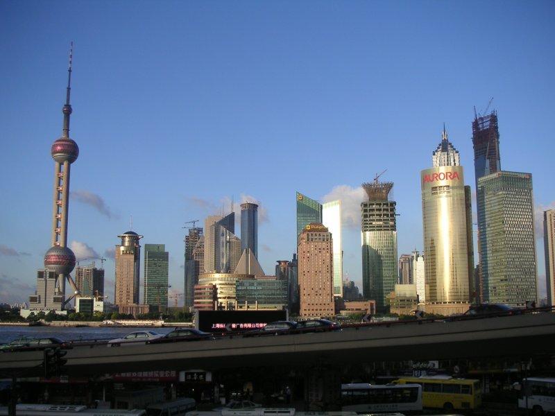 Pudong Skyline Summer 2007