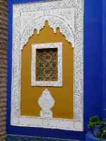 Decorated window at the Jardin Majorelle