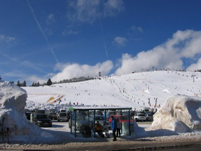 Busstation at piste in Feldberg
