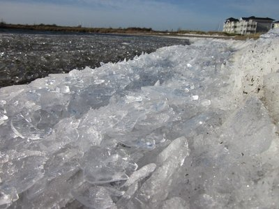 Ice on the beach