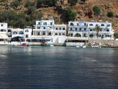 Loutro, without roads