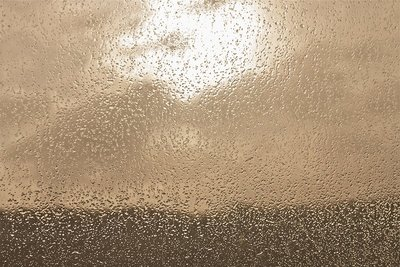 Salt on car window