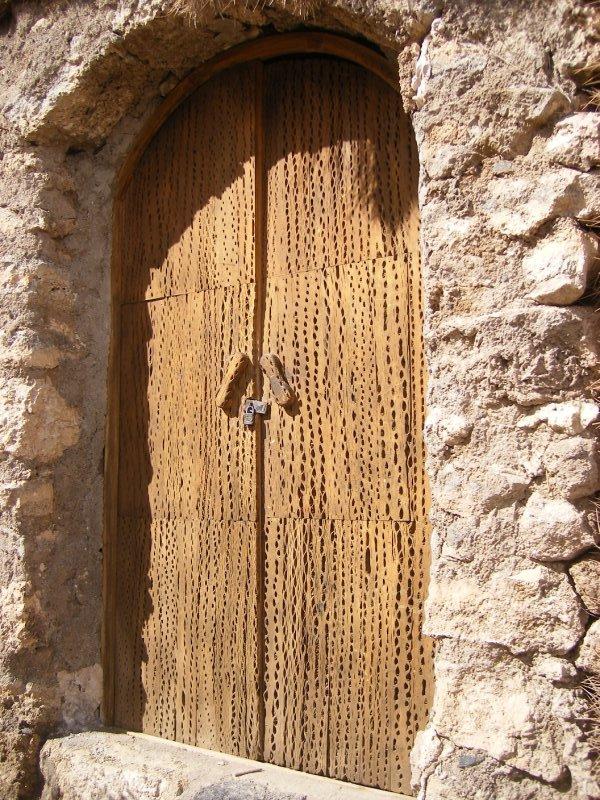 Door made from cactus