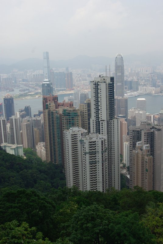 View of HK Harbour from Victoria Peak