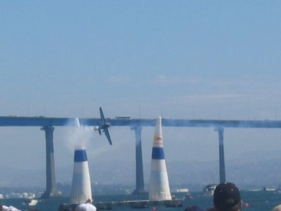 First Red Bull Air Race in San Diego - Fly By Coronado Bridge