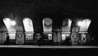 A scene at tube station