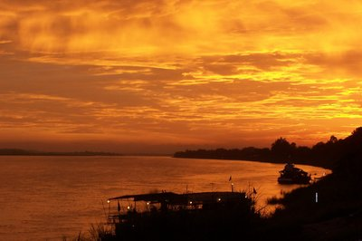 Sunset in Vientiane