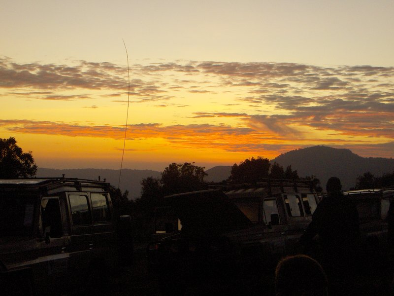 Sunset at Ngorongoro Crater