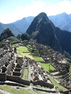 Machu Pichu from above