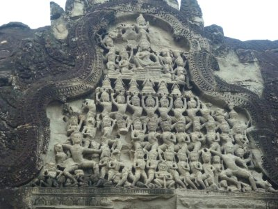 bas relief at AW- siem reap