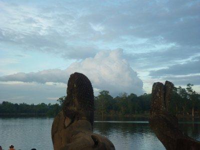 end of day at angkor wat- siem reap