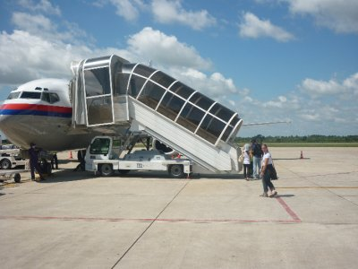 Boarding plane back to Kuala Lumpur