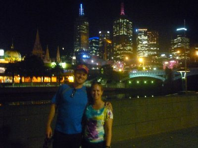 Sara and Mike Melbourne skyline  SouthBank