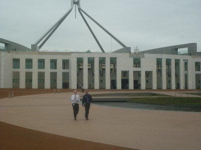 Front Entrance of Parliament- represent aboriginal Period