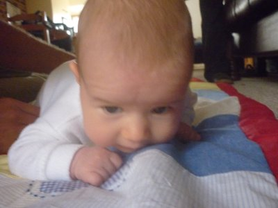 Isabella tummy time
