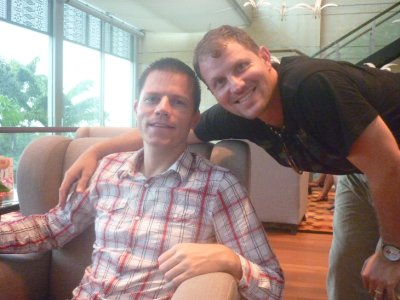 Tim and Mike at Shangra La