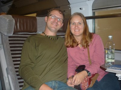 Sara and mike on EUROSTAR!