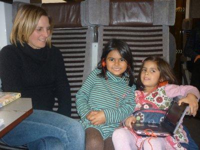 Comfy family on Eurostar!