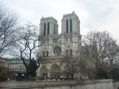 Notre Dame cathedral front view
