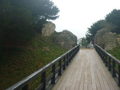 Old Sarum moat bridge