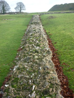 Ruined wall of Old Sarum Cathedral ca 1200