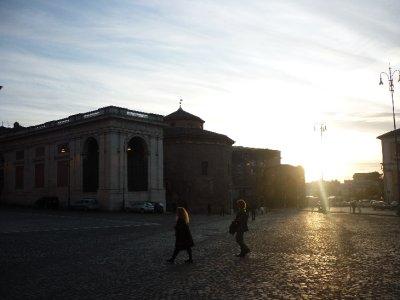 Sunset on Lateran Baptistry.