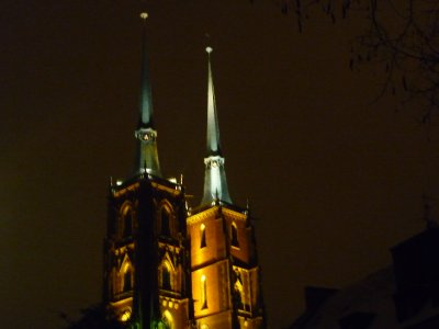 Twin towers of Wroclaw