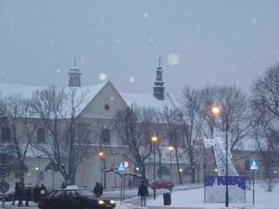 Krakow in the snow- Old Town 1