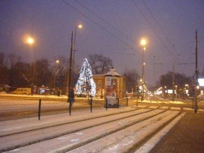 Krakow tram stop