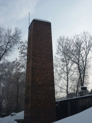 Crematorium chimney at Auschwitz I
