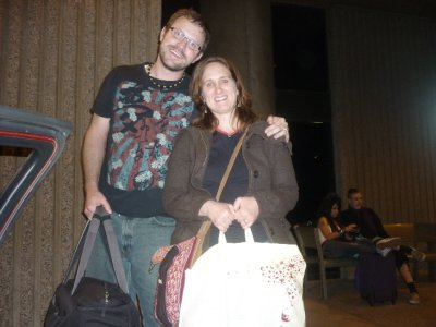 Road weary, but home...Sara and I