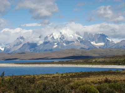 First glimpse at Torres del Paine