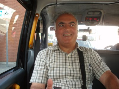 Dad in the cab