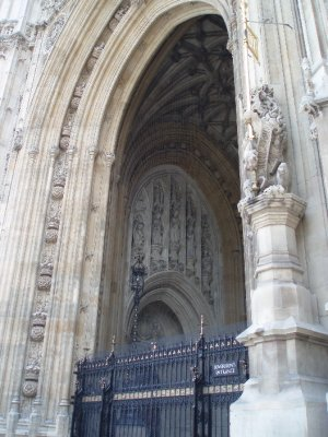Sovereign&#39;s Entrance at the Houses of Parliament