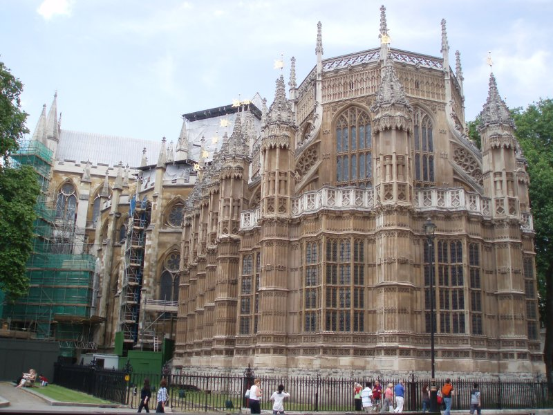 Westminster Abbey being renovated