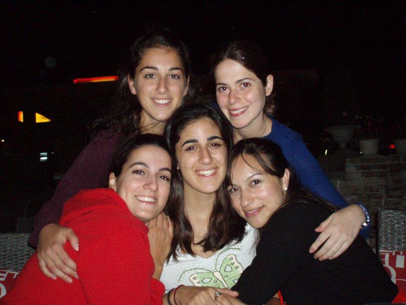 The girls say goodbye