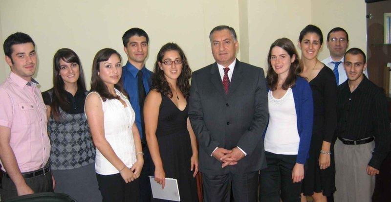 Interns with Yerevan Deputy Mayor