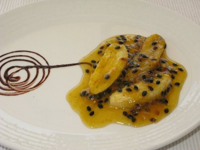 Banana in Passion Fruit Sauce