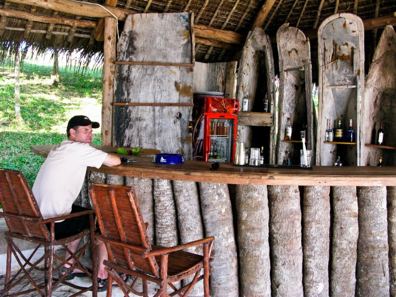 Drink at the Manta Reef Beach Bar