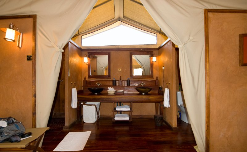 Migration Tent Bathroom
