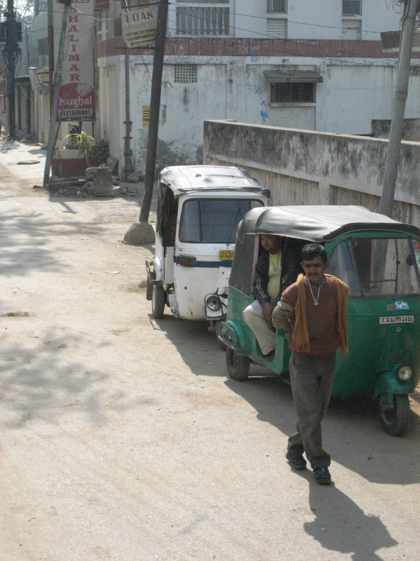 Our favourite autorickshaw driver lingering outside the hotel