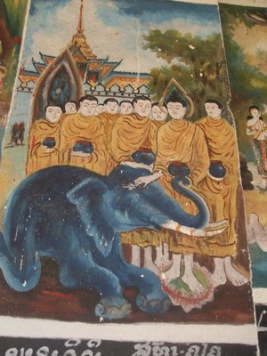 Temple painting, Elephant