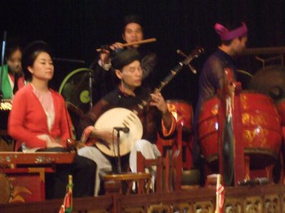 Musicians at the Water Puppet Theatre in Ha Noi