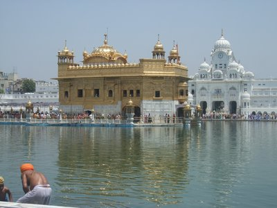 The Golden Temple at Amritsar, daytime