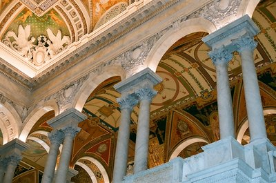 Inside the Library of Congress, Washington DC