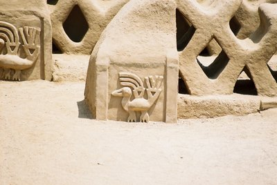 Motif from the ancient city of Chan Chan, nr Trujillo