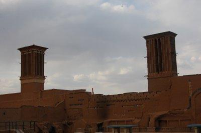 Windcatchers on top of buildings