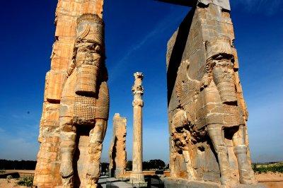 Standing guard in Persepolis